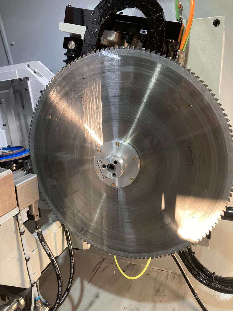 Newly sharpened cutting saw, sharpened using the CHX840, for Burns for Blinds, Adelaide